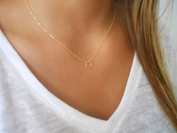 p chain stella necklace gold rose delicate dot