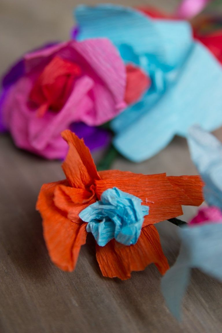 Easy Diy Craft Mexican Inspired Paper Flowers For Flowers Crowns