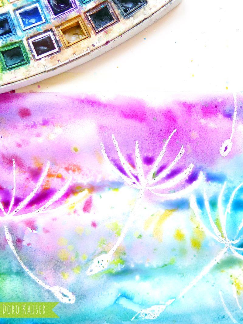 Wunderbare Pusteblumen mit Wasserfarben malen | Schöne sommerbilder ...