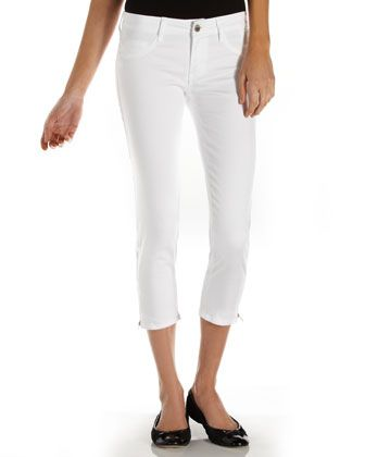 Zip-Cuff Cropped Pants by FADE TO BLUE