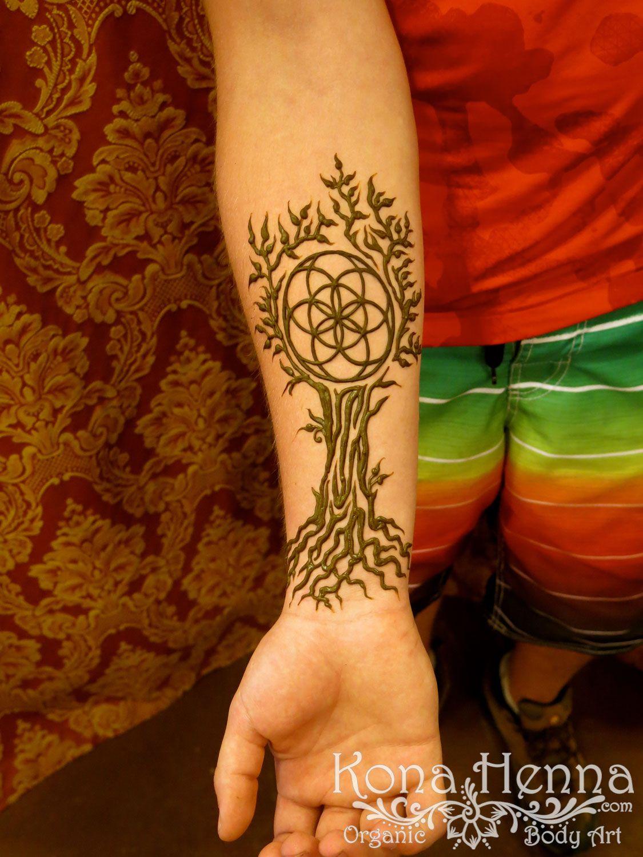 Kona Henna Studio Seed Of Life Tree Of Life Wrist Henna Kona