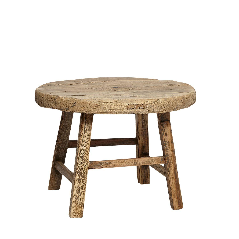 Runt soffbord i alm, Hubsh Alfhem in 2019 Rustic stools, Wood rounds, Furniture