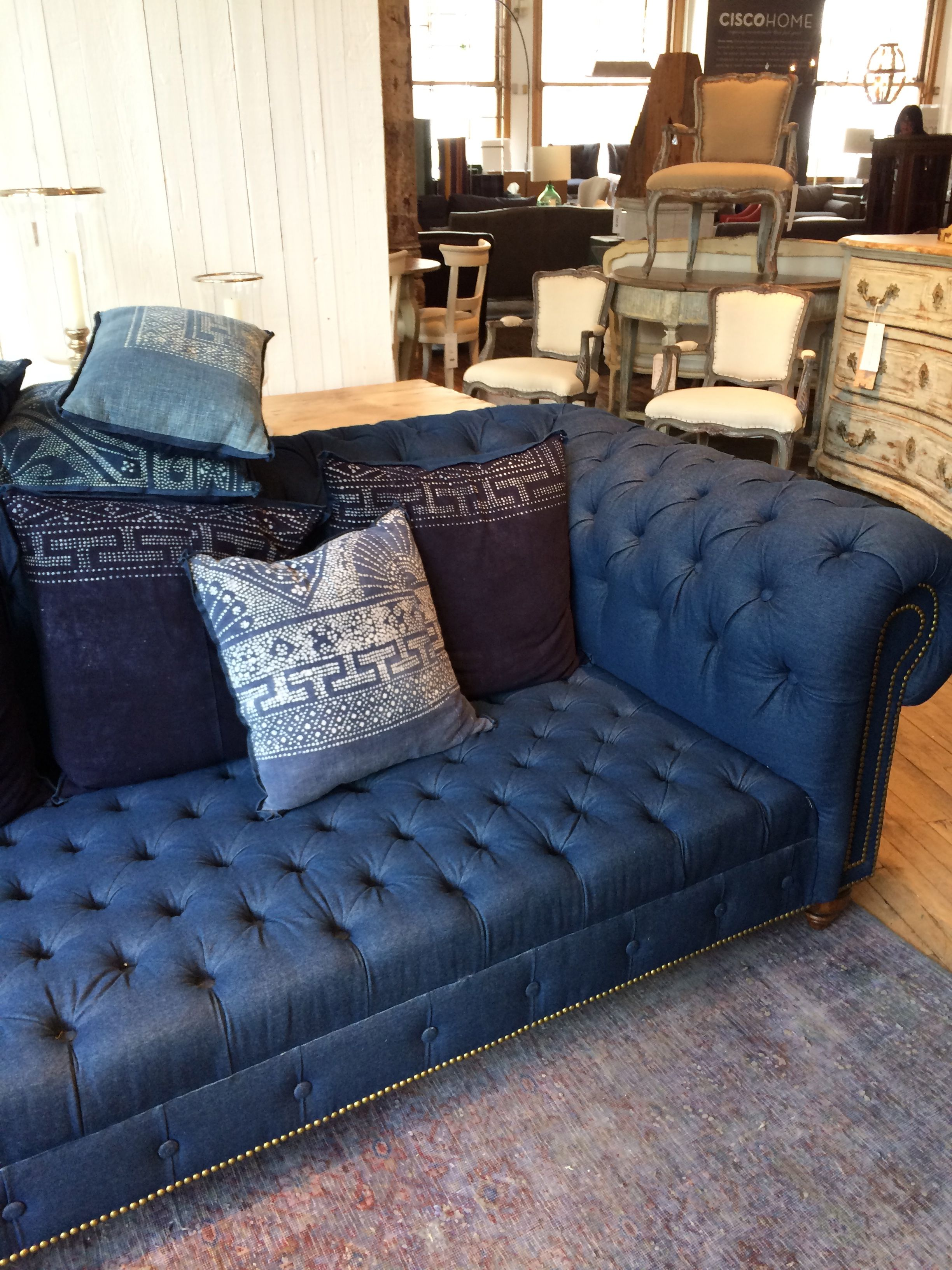 Chesterfield Sofa Living Room Ideas Denim Sofa Now This Is A Denim Sofa I Can Get On Board