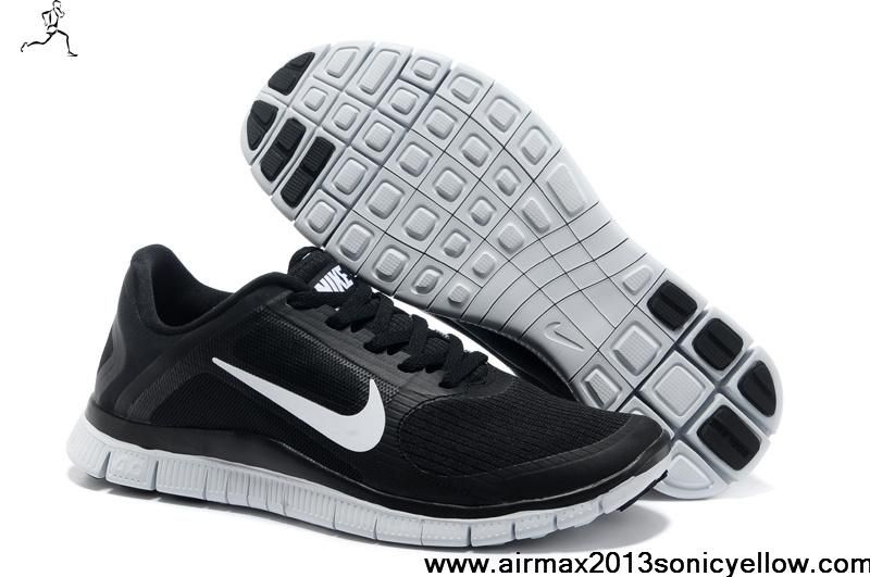 Nike Free Run 4.0 V3 Chat Noir Et Blanc