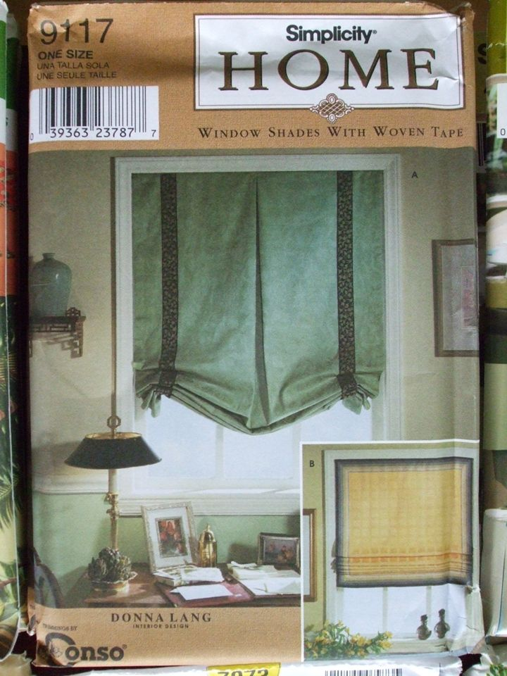 WINDOW Treatments Sewing patterns: shades, french country drapes ...