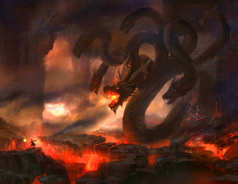 Greater Fire Hydra Dragon Pictures Art Hydra Monster