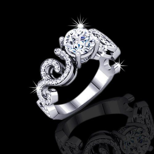 unique black diamond wedding rings 40 tcw unique engagement ring 5990 00 elegance and - Unique Wedding Rings For Women