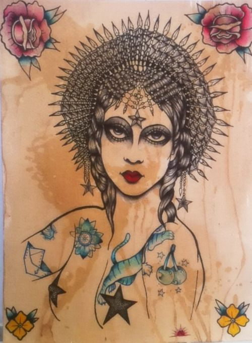 GYPSY DANCER TRADITIONAL THE WRONG HAND TATTOO MADRID