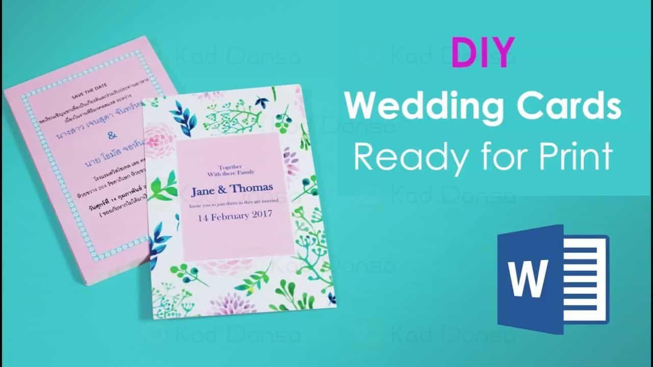 Tutorial Design Kad Kahwin Sendiri Diy Guna Microsoft Word Wedding Card Diy Simple Wedding Cards Wedding Cards