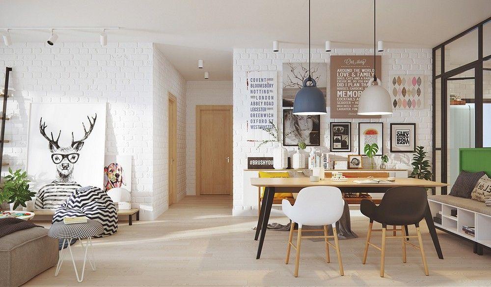 Skandináv lakberendezés, étkező és nappali dekoráció ötletek ...