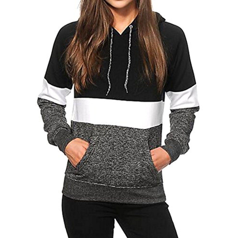 Etecredpow Men Long Sleeve Solid Hoodie Pocket Sport Pullover Sweatshirts