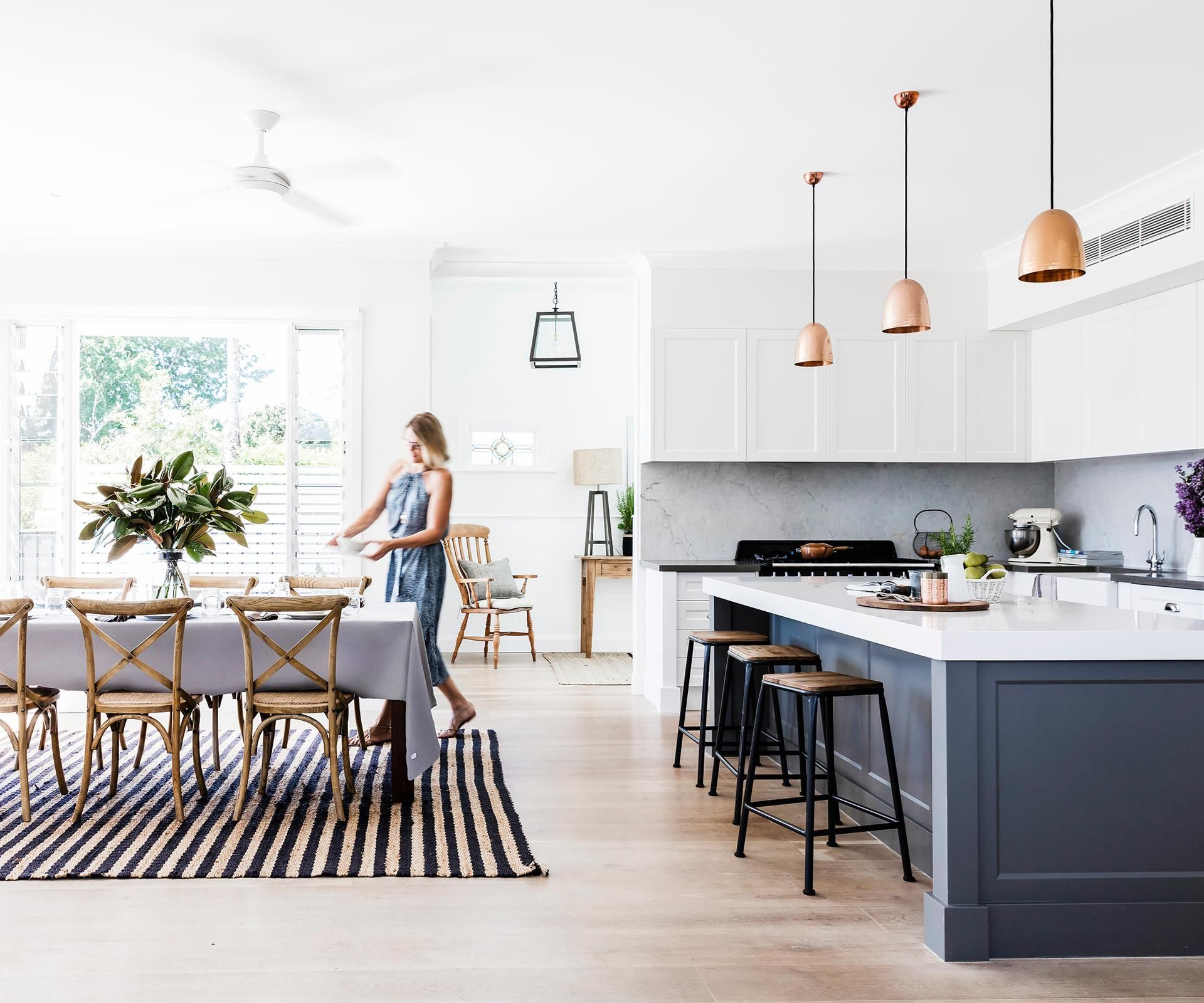 Dining Kitchen Oz Okinawa: Serial Renovators Triumph With New England-inspired Home