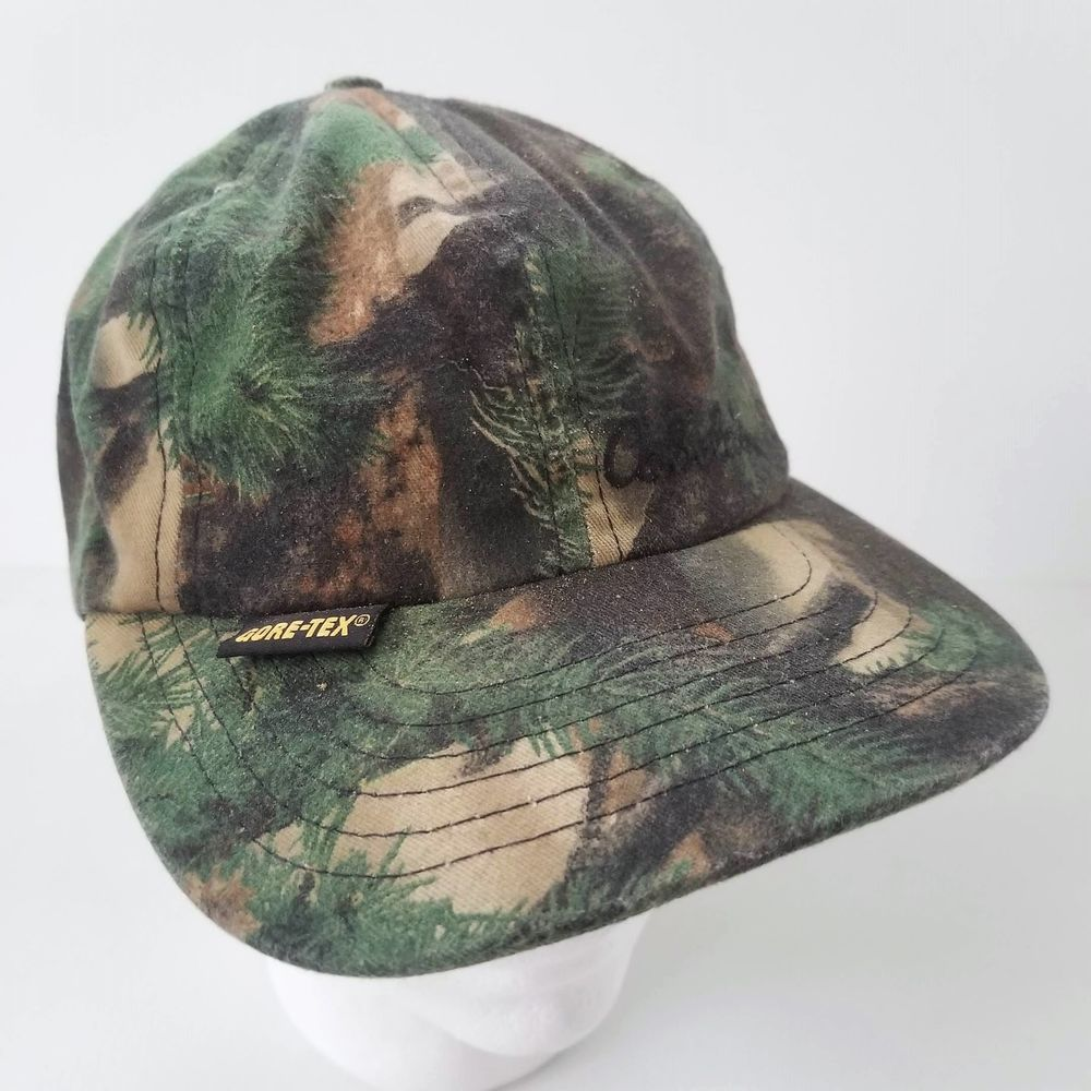 69a7e4b1b8305 Cabela s Camo GoreTex Hat Waterproof Ball Cap Made in USA Hunting  Camouflage  Cabelas  BaseballCap  camo  camouflage  goretex  waterproof  hat   hunting