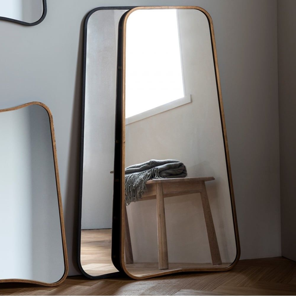 Inca Contemporary Full Length Leaner Mirror, Gold in 2020