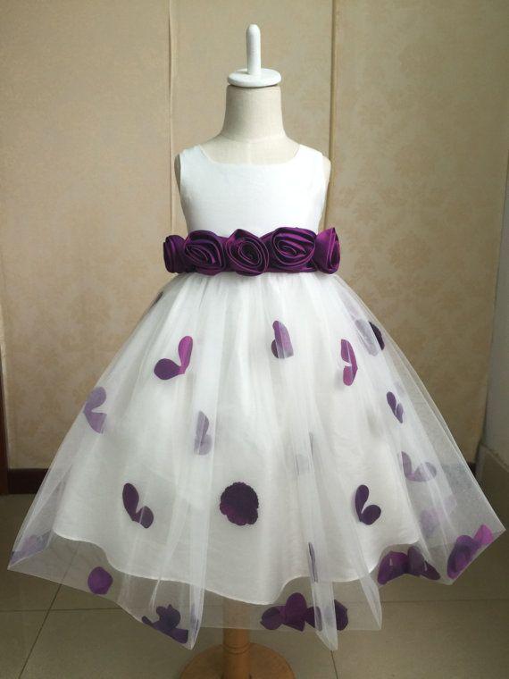 085764fa3b6 Cadbury Purple Flower Girl Dress   Bridesmaid by MelsWeddings ...
