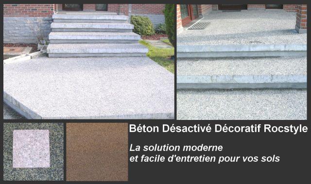 Le béton désactivé décoratif, pour quels usages ? Les possibilités