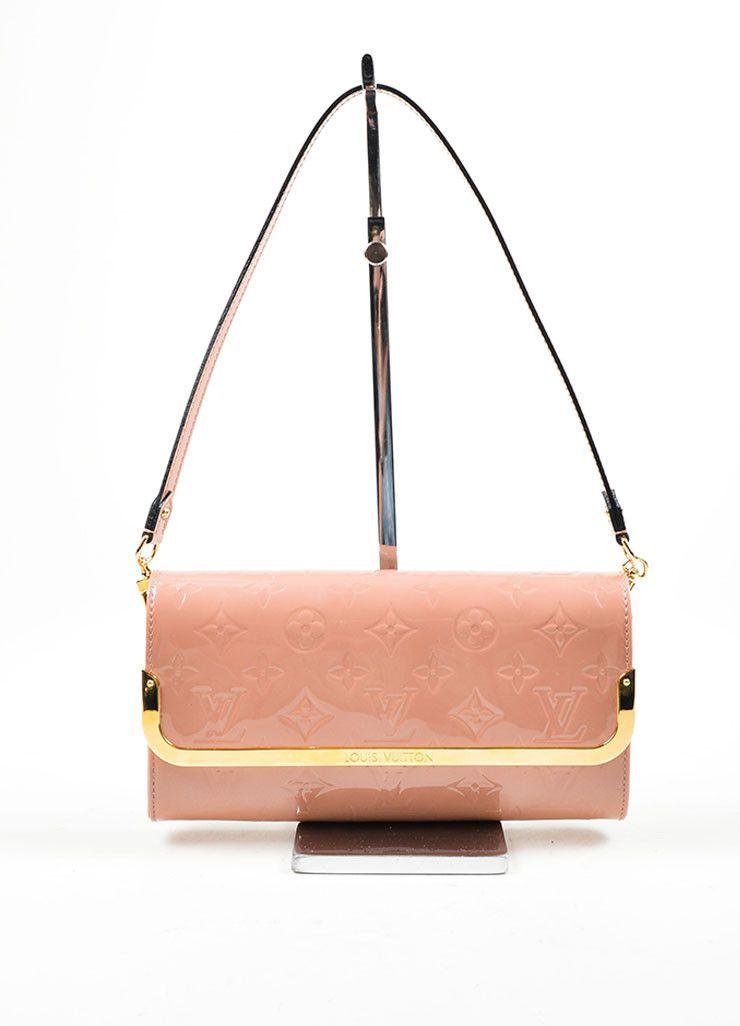 "Pink ""Rose Velours"" Louis Vuitton Vernis Monogram ""Rossmore MM"" Clutch Bag"
