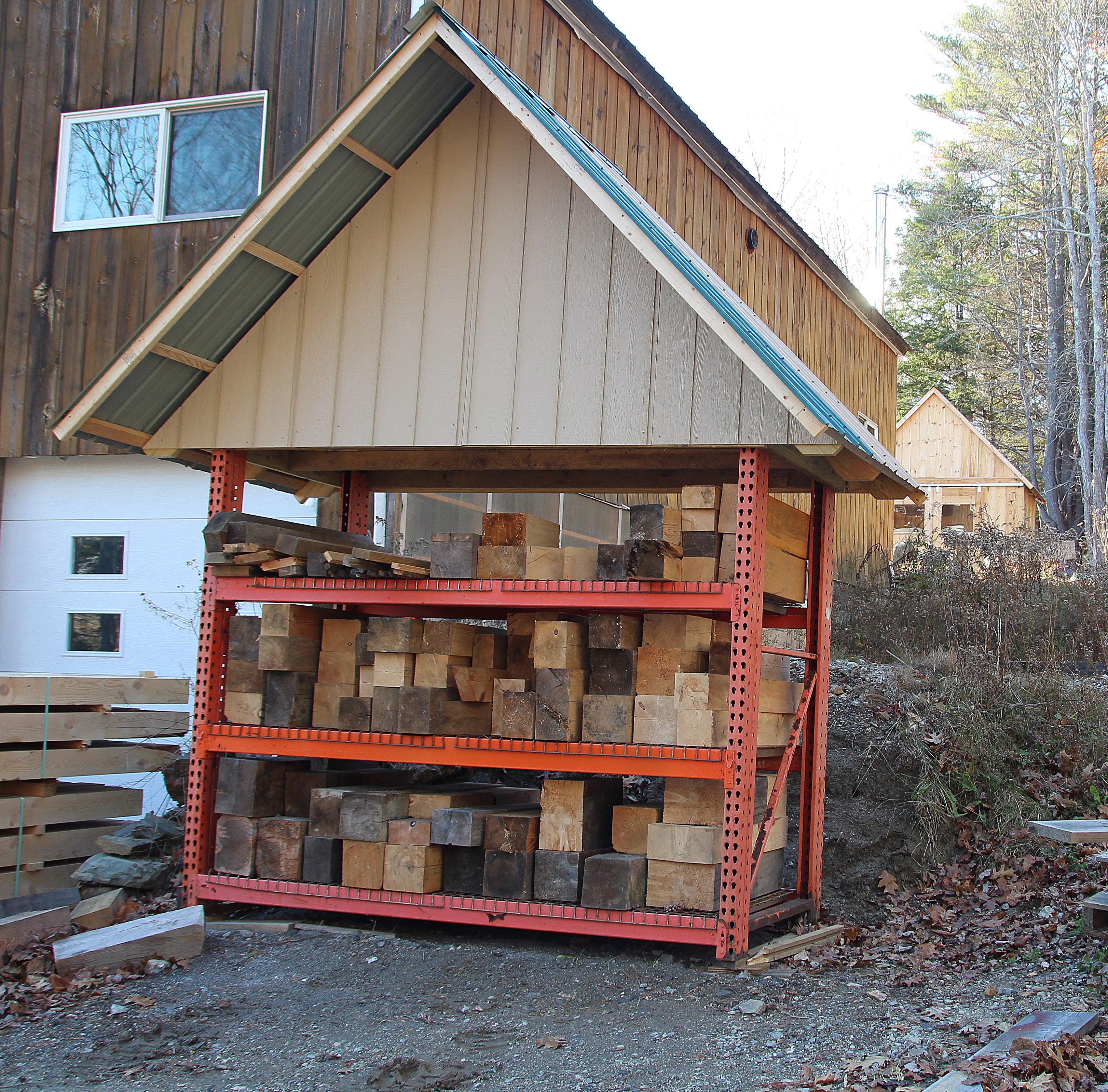 Block House: If you build timber frames, you have a lot of blocks of ...