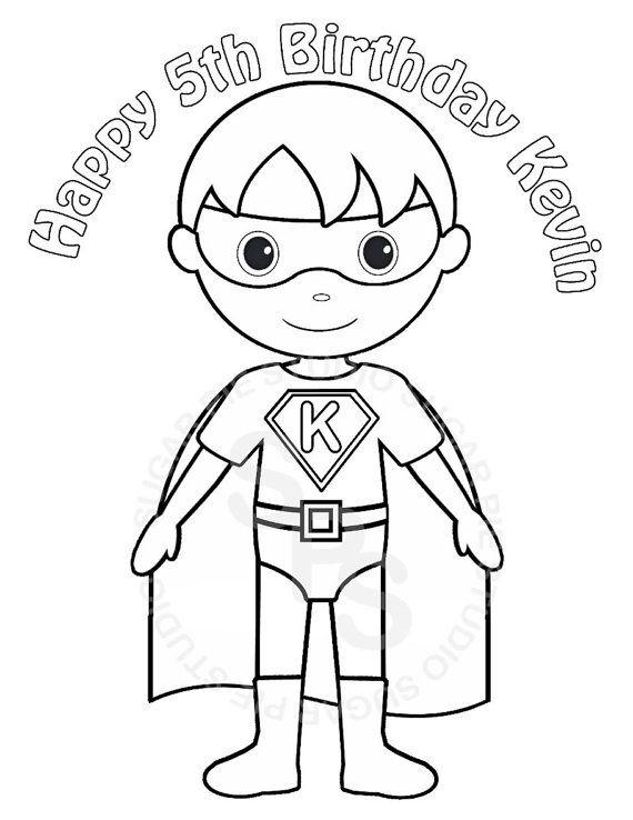 Personalized Printable Superhero Boy Birthday Party Favor Etsy In 2020 Superhero Coloring Superhero Coloring Pages Super Hero Coloring Sheets