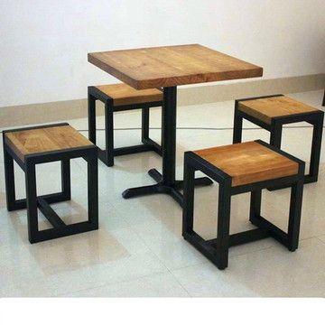 Mesa E Cadeira Alta Mobilia Restaurada Mobiliario De Bar