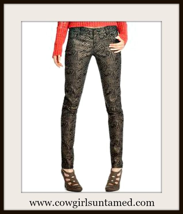 d2abbdf1a03d7 CELEBRITY PINK JEANS Low Rise Skinny Faux Snakeskin Coated Skinny Jeans  ONLY $24.99!! #