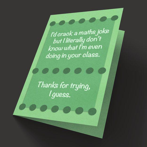 For Your Maths Teacher Teachers Day Card Teacher Thank You Cards Teachers Day