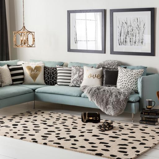 Surya Stella Dalmatian Dot Wool Rugs Deco Salon Salon Marocain Moderne Deco Interieure