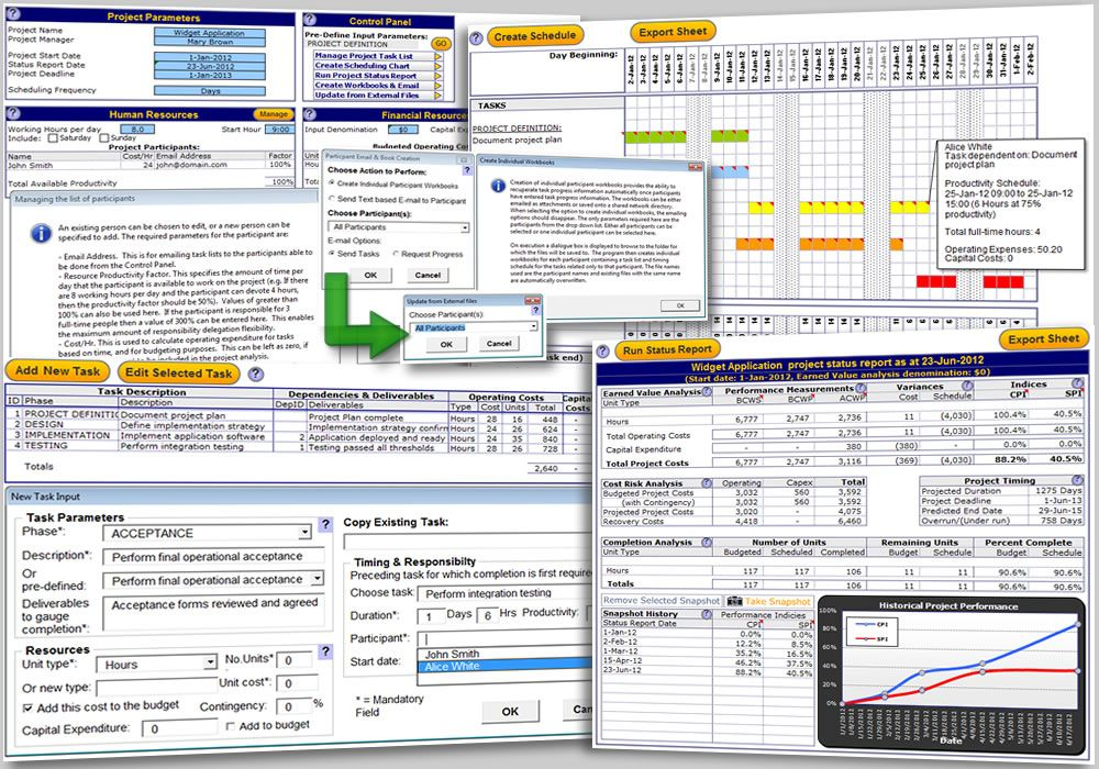 The Excel Project Management Template is a generic and simple to use
