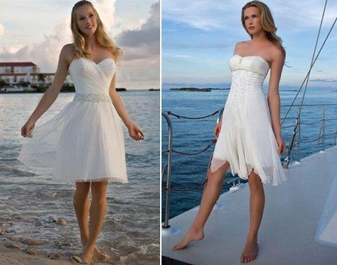 short beach wedding dresses 2014 | Nail Art | Pinterest | Short ...