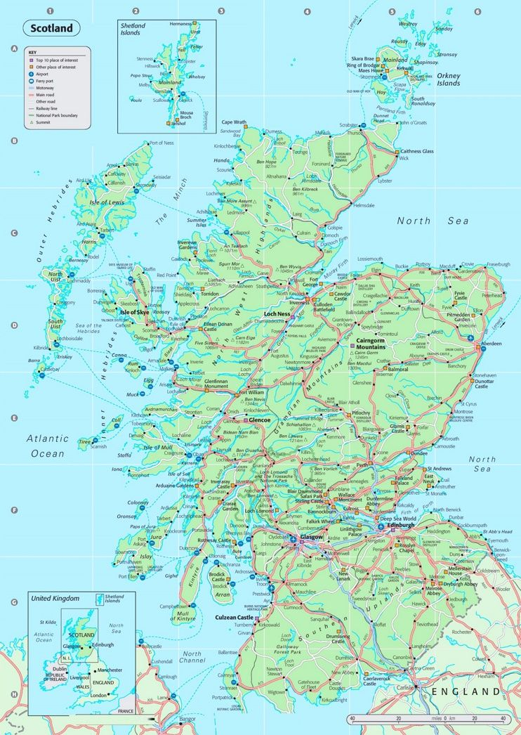 Detailed Map Of Scotland Detailed Map England Map