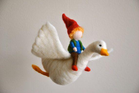 Zimmer Ornament Waldorf inspiriert: Der junge und die Gans