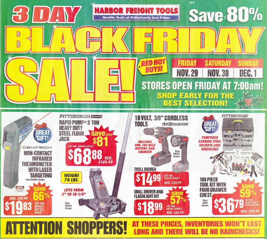 Harbor Freight Black Friday 2013 Ad Page 1 Ad Black