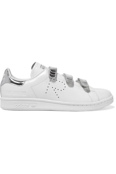c870715029e5 ADIDAS ORIGINALS + Raf Simons Stan Smith Comfort perforated  metallic-trimmed leather sneakers.  adidasoriginals  shoes  sneakers