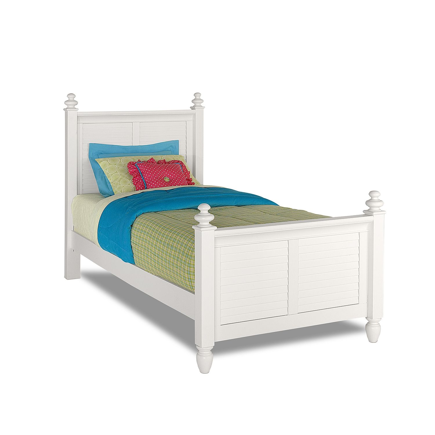 Seaside White Twin Bed Value City Furniture Full bed