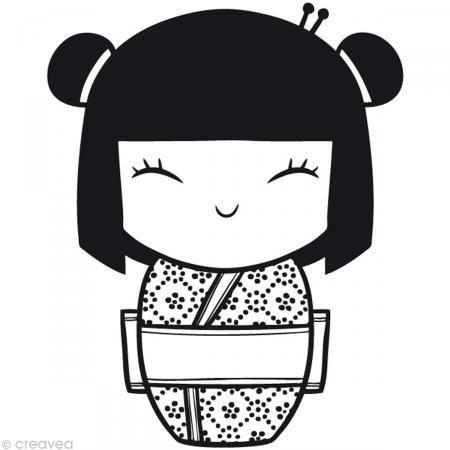 tampon divers kokeshi geisha kokeshi pinterest dessin tampon y plastique. Black Bedroom Furniture Sets. Home Design Ideas