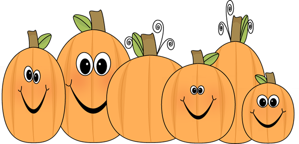 Pumpkin patch. Cute clip art image