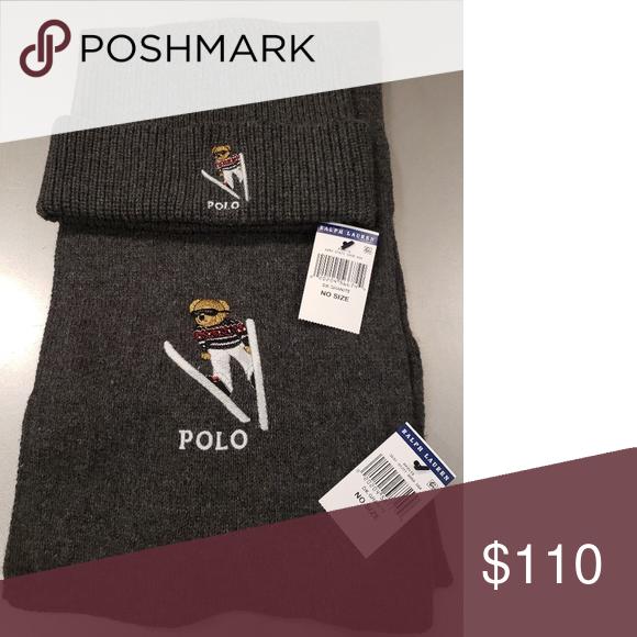 d417612699 Polo Ralph Lauren Polo Bear beanie and scarf set Limited Edition Mens Polo  Bear beanie and scarf set Beanie and scarf 60% cotton 30% nylon 10% wool  PRICE IS ...