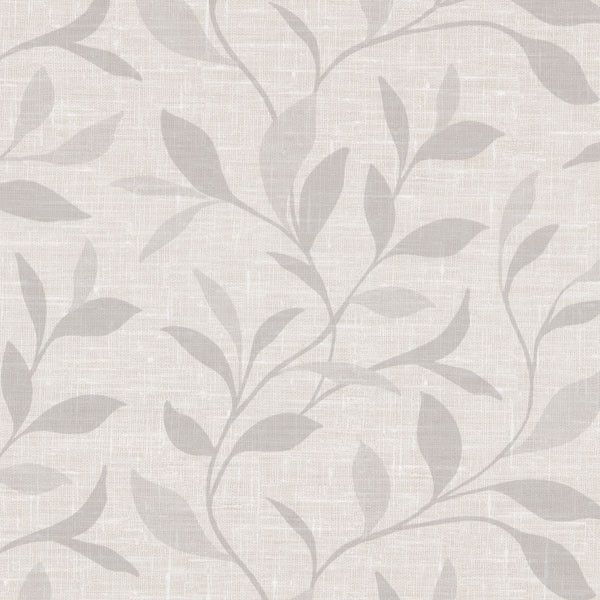 Flora Light Grey Leaves Wallpaper from the Beyond Basics Collection ...