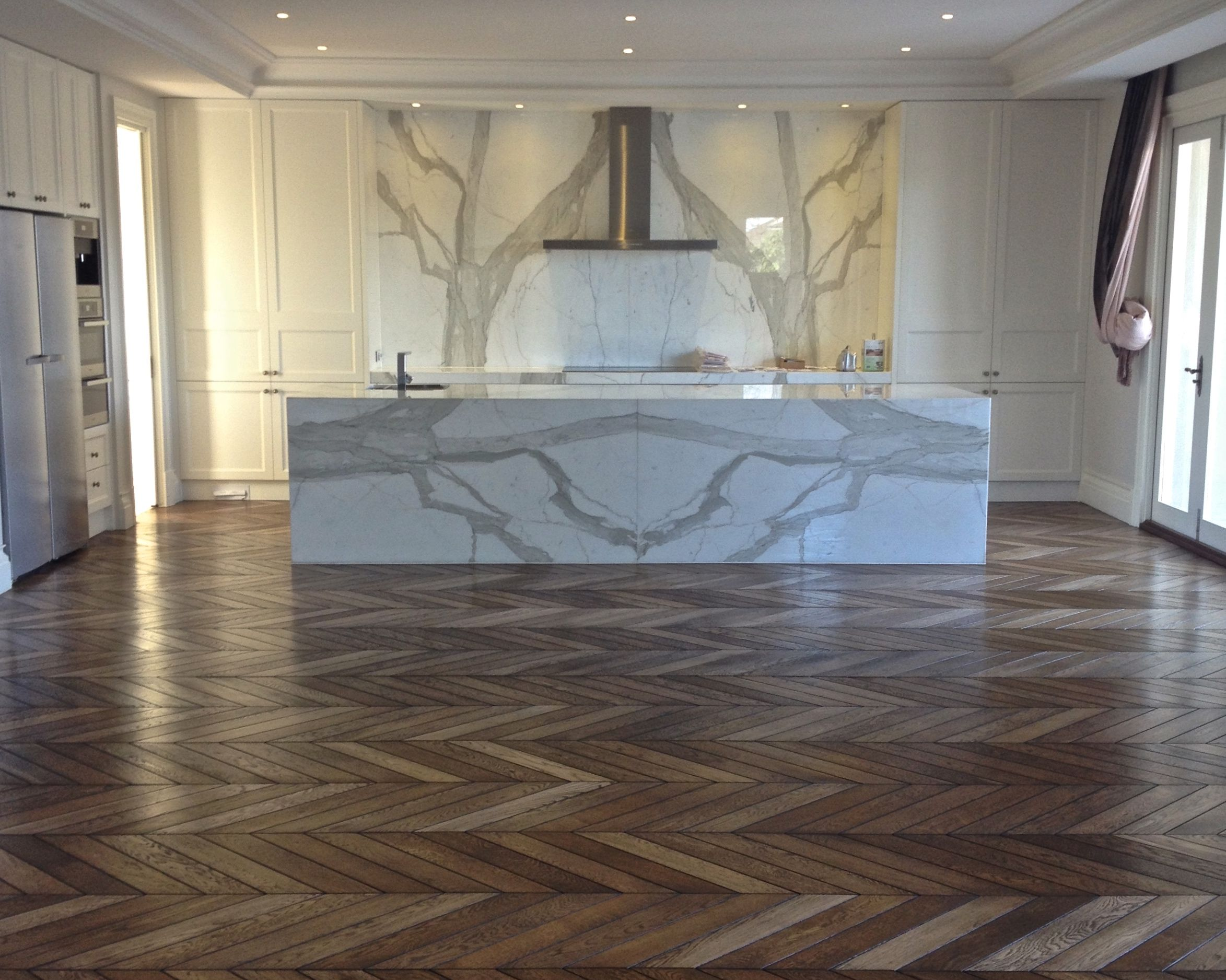 Chevron parquet with bevel - smoked and oiled | Chevron ...