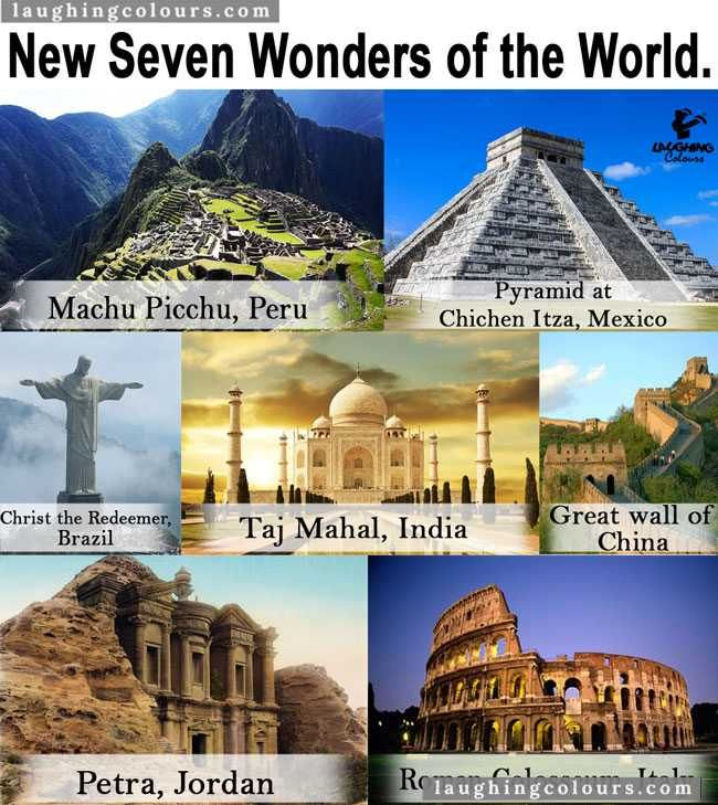 Seven Wonders World Seven Wonders Wonders Of The World New Seven Wonders