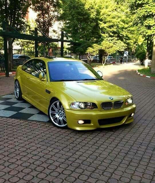 BMW E46 M3 Yellow