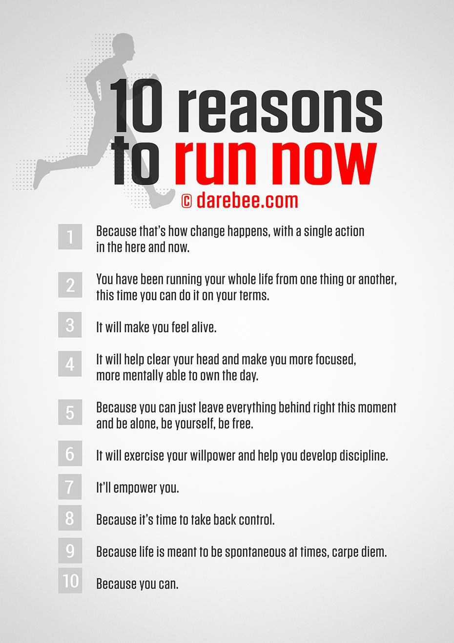 love it! Reasons to run now