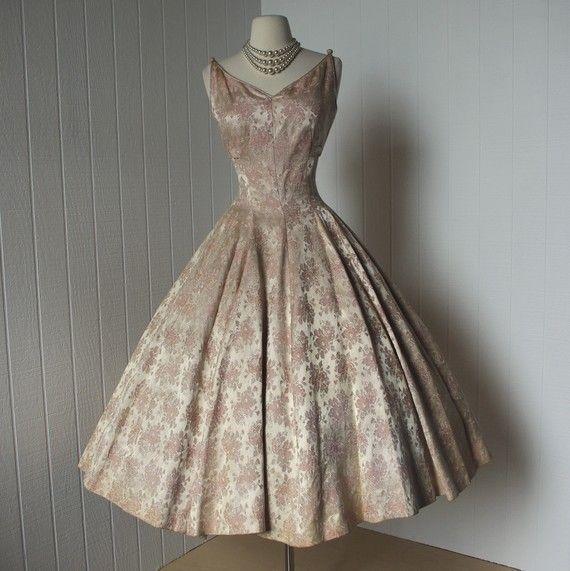 Vintage Dior Dresses | vintage 1950s dress ...designer SUZY PERETTE dior inspired decadent ...