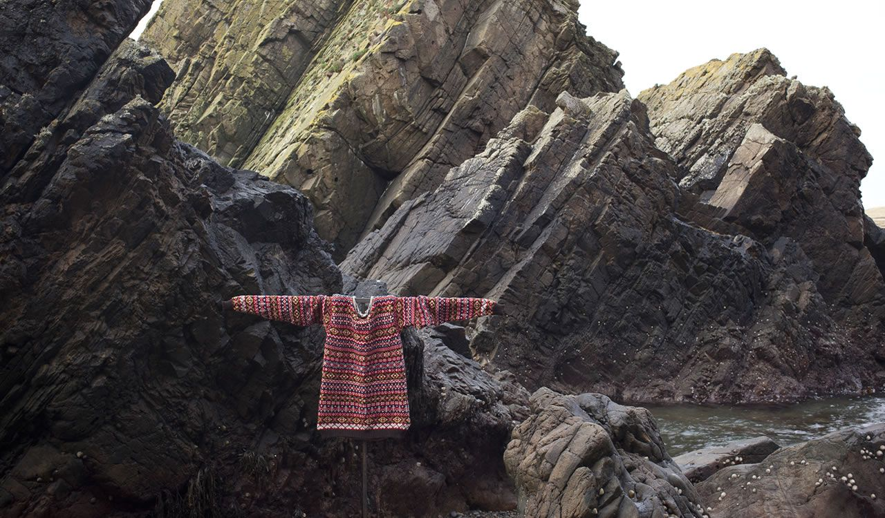 the red one, Bespoke Fair Isle knitwear, Mati Ventrillon