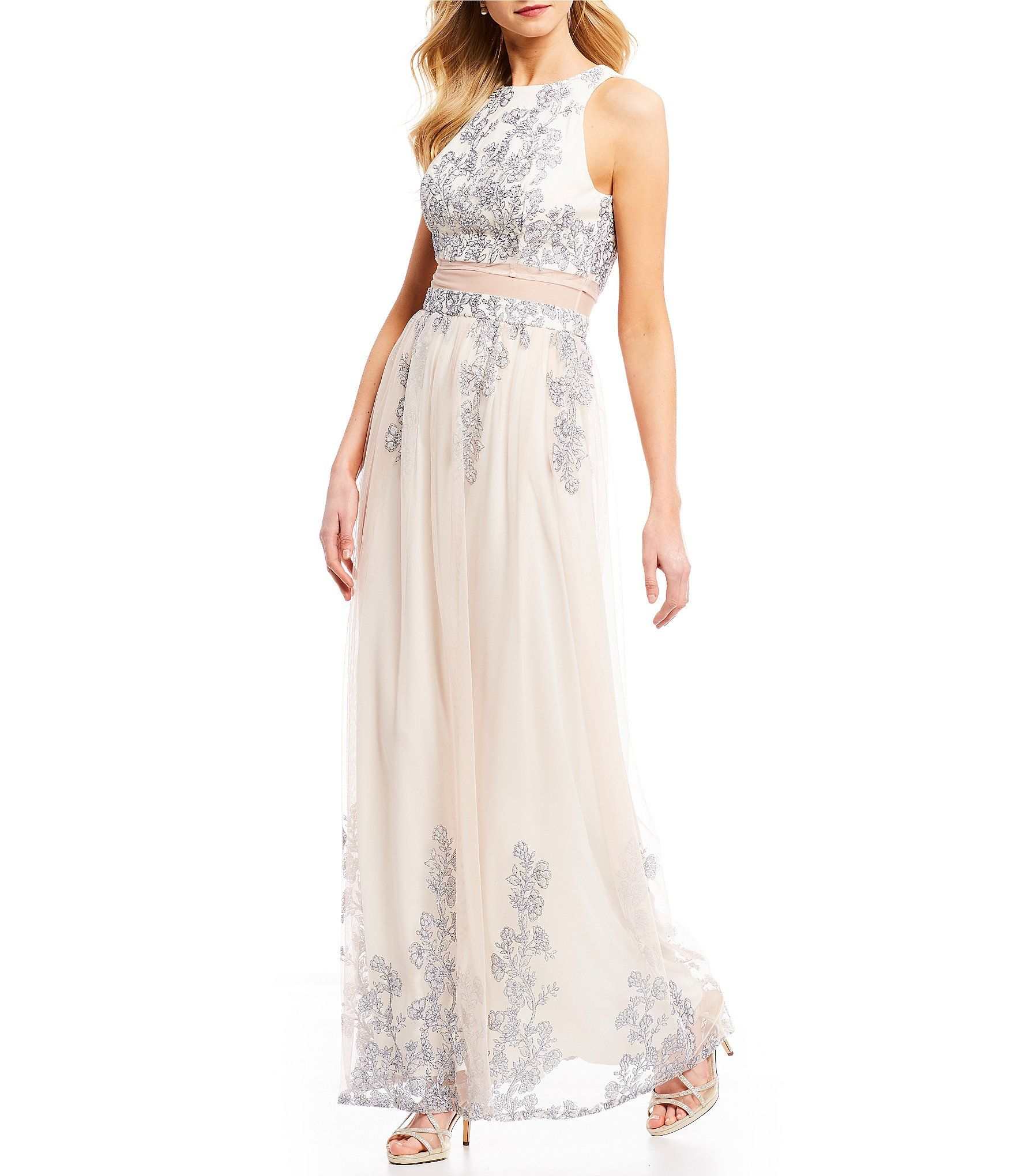 Shop for ignite evenings glitter mesh gown at dillards visit
