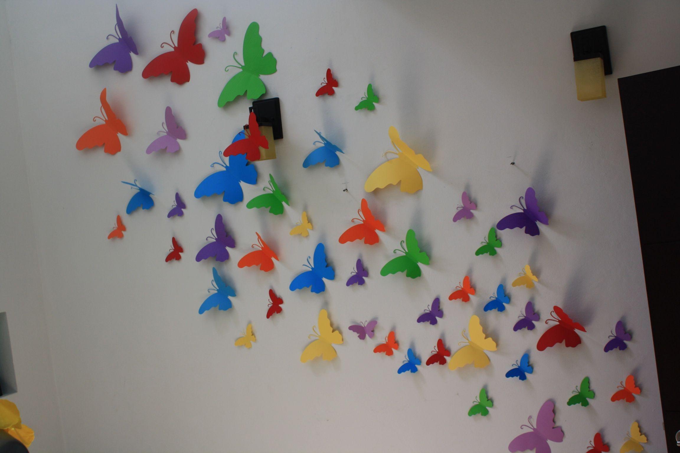 Paquete de mariposas para las paredes 400 pesos buscamos - Diseno de paredes ...