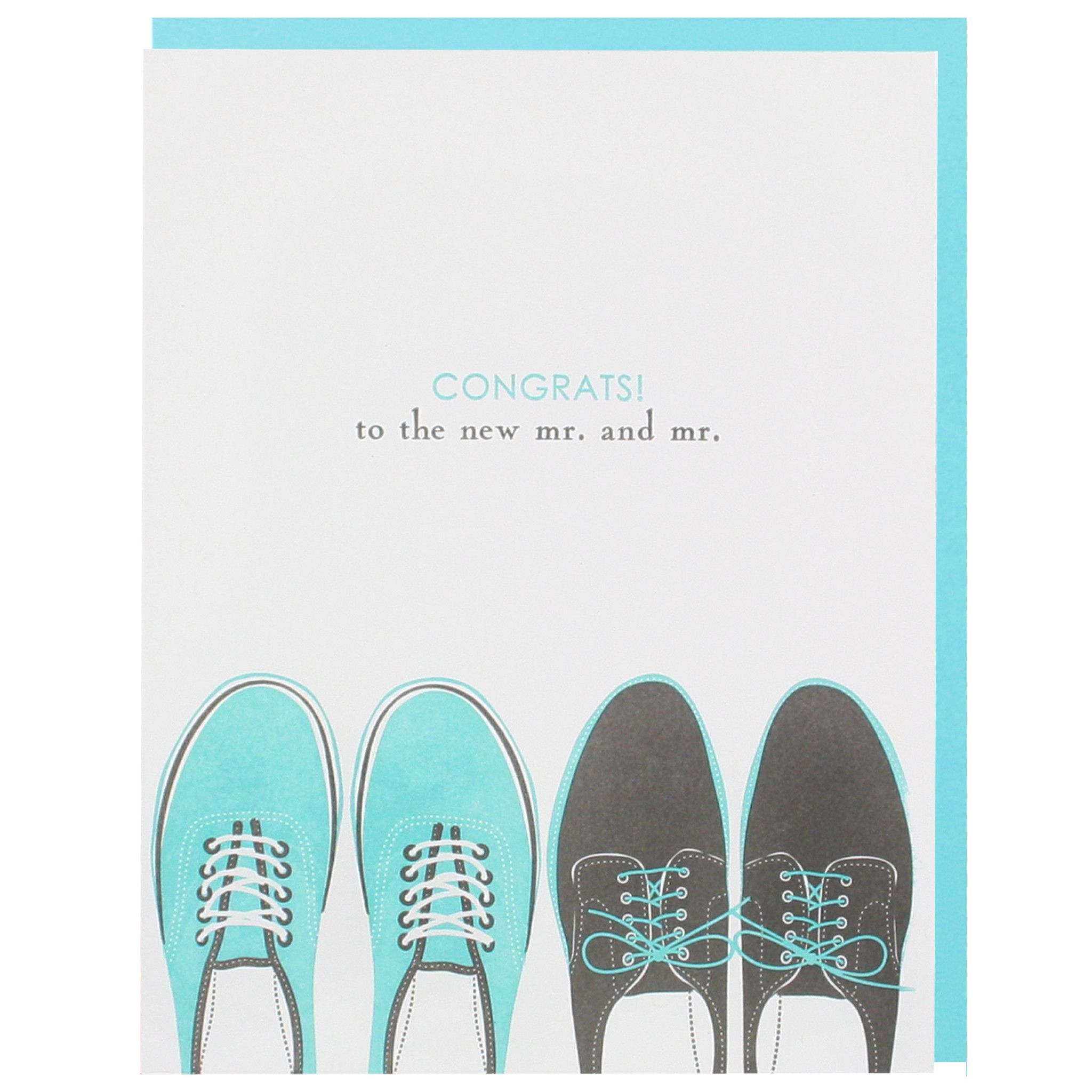 Wedding Shoes Mr. and Mr. Card