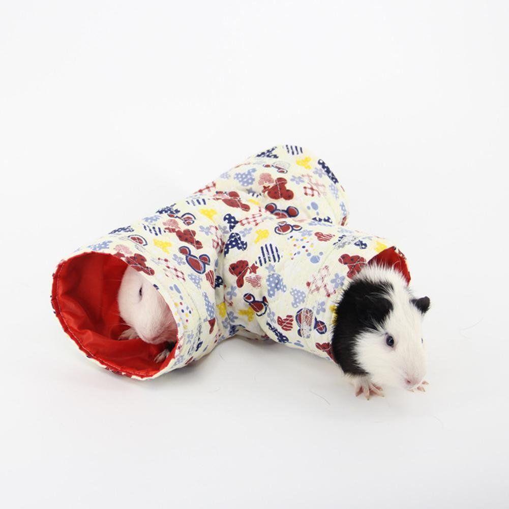 Zeroyoyo 3 Way Small Pet Cartoon Tubes Hamster Toy Tunnel Bed Cute