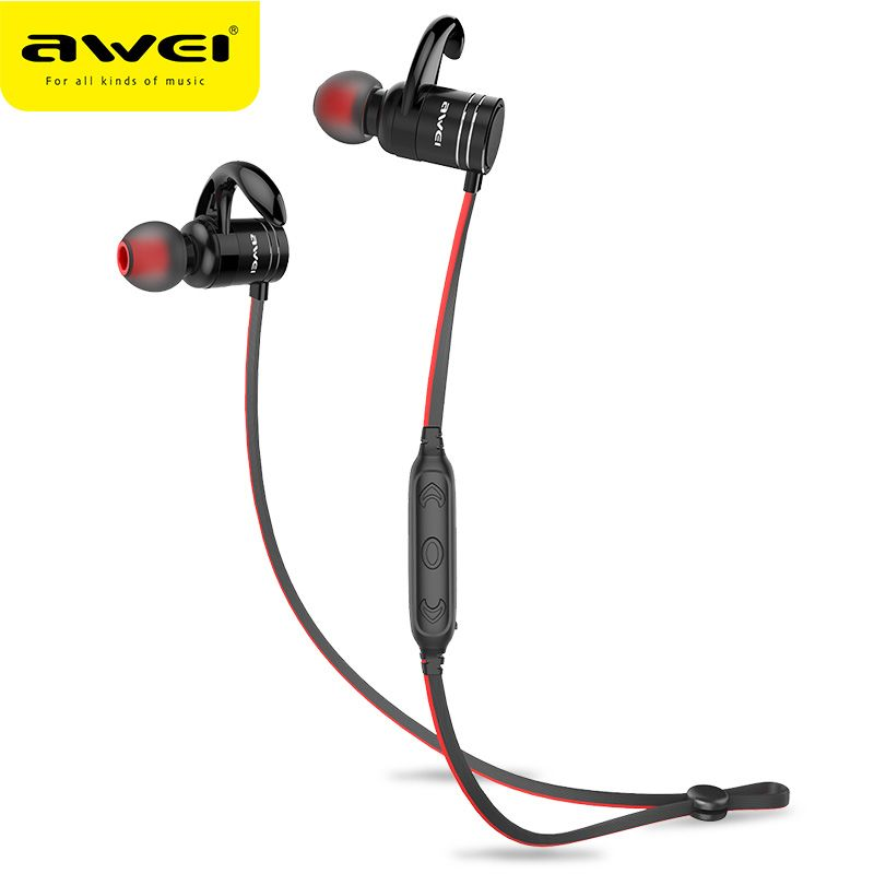 Cheapest Awei Ak7 Wireless Sport Headphone Bluetooth Earphone For Phone Magnet Cordless Headset Earpiece With Mic 10h Music