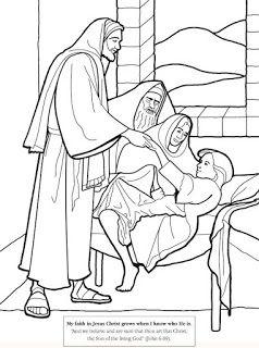 Jesus healing Jairus daughter coloring page | Sunday School ...